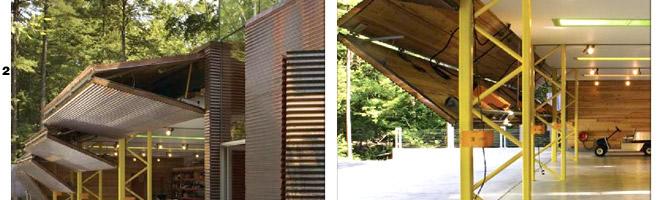 Lake Home In New York Uses Four Designer Bifold Garage Doors
